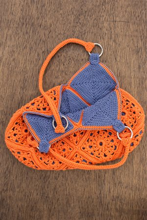 Delia Bag: Crochet Motif Purse