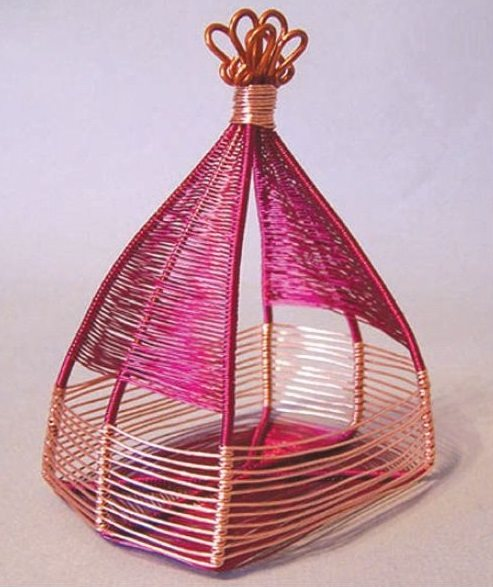 wire weaving basket by Jodi Bombardier