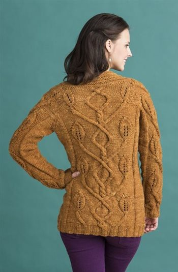 Forest Cardigan, Kristen TenDyke, No-Sew Knits