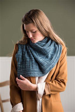 Kim McBrien Evans Striated Shawl knit.purl Spring/Summer 2015