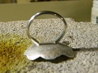 Metalsmithing a sterling silver flower ring wire
