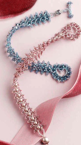 For Today S Valentine Day Blog I Thought It Would Be Fun To Share A Free Crystal Bracelet Project With Heart By Bead