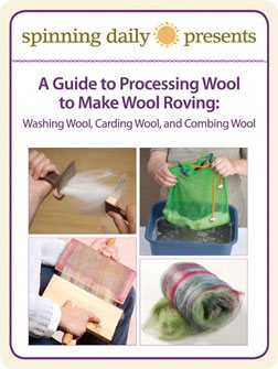 Learn everything you need to know about processing wool to make wool roving in this free spinning guide.