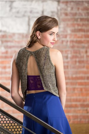 Sachiko Burgin Open Back Bias Tank knit.purl Spring/Summer 2015
