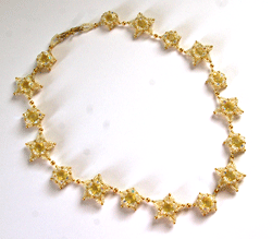 Star Beaded Necklace Finished