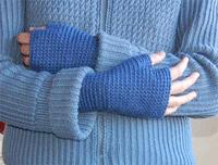 Fingerless Crochet Mitts