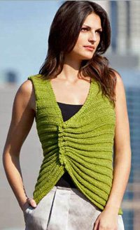 Norma Ruched Knitted Tank by Irina Poludnenk