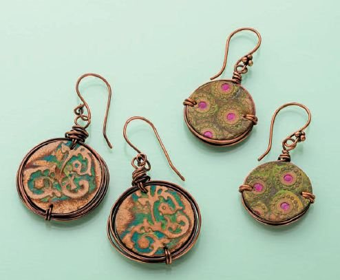 Melinda Orr's Mystic leather and wire earrings