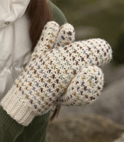 Learn to adapt thurmming to crochet with the Thrummed mittens found in our FREE crochet mittens patterns ebook.