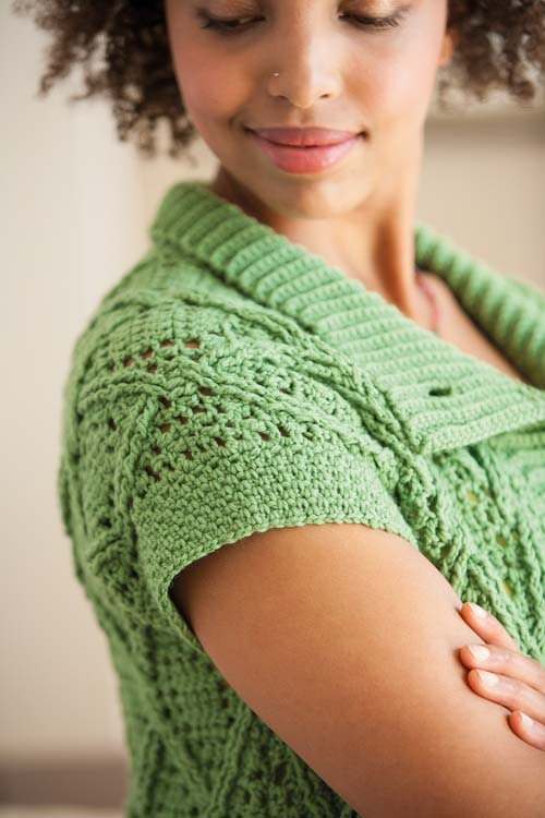 Blueprint Crochet Sweaters: Cabled Crochet Cardigan
