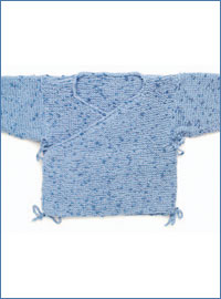 Create this knitted baby sweater in this free guide on baby knitting patterns.