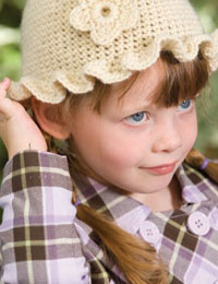 Girl's Crocheted Hat