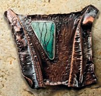 Learn how to make this fold formed bronze brooch project after learning about soldering copper and brass.