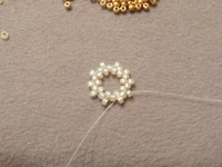 Making Beaded Necklace Step 2