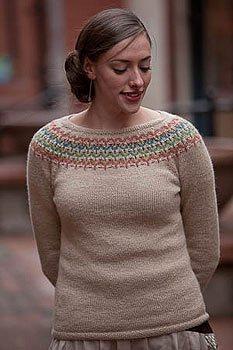 Freyja Sweater by Courtney Kelley, Interweave Knits Fall 2009