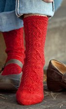 Another example of the twisted stitch in knitted socks