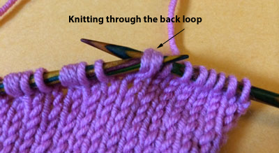 Knit 2 Stitches Together Through Back Loop : Short-Rows: A New Method - Interweave