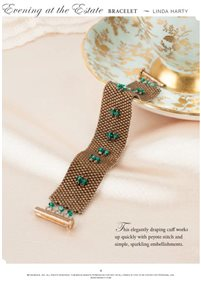Peyote Stitch Bracelet - Evening at the Estate Bracelet openin