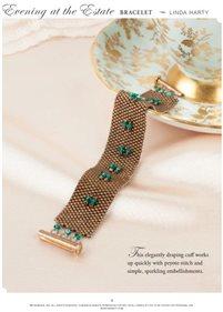 Peyote Stitch Bracelet - Evening at the Estate Bracelet openin