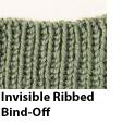 This is a great example of the invisible ribbed bind-off knitting technique.