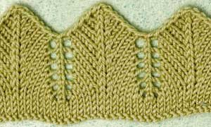 Learn everything you need to know about the pointed lace edging in knitting.