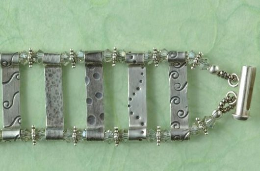 Stamped Ladder Bracelet by Lisa Niven Kelly metal stamping jewelry