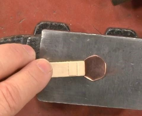 save your fingers by holding small metal pieces with a wooden clothes pin or craft stick while hammering