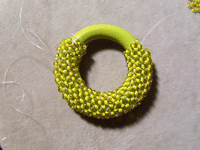 Covering Ring with Right-angle Weave Step 5
