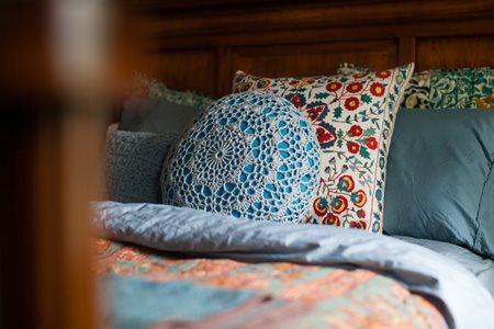 Doily Pillow Closeup