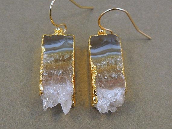 Raw Gemstones and Druzy Jewelry Interweave