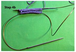 Learn magic loop knitting step 4b.
