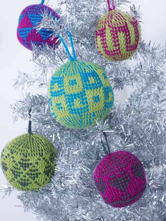 Tunisian Crochet Ornaments