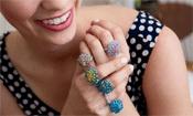 Bead Crochet Rings Mod Rings by Jodi Witt