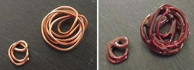 enameled wire scrap pieces