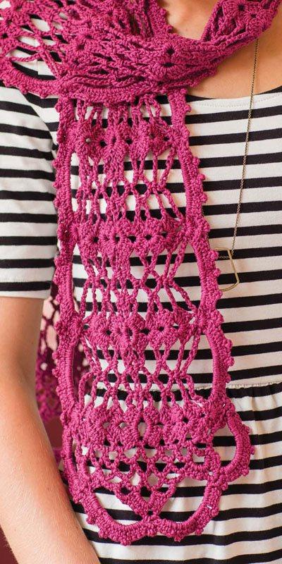Colorful Crochet Lace: Crochet Lace Scarf