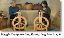 Maggie Casey spinning with Eunny Jang
