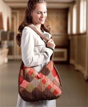 Entrelac Tunisian Crochet Bag