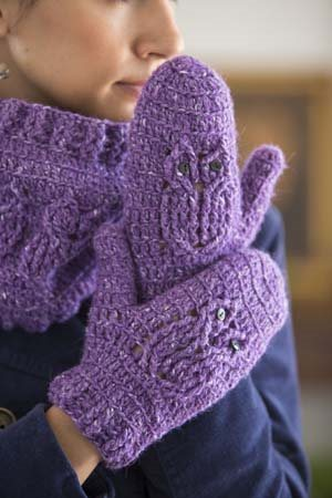 Owl Crochet Mittens