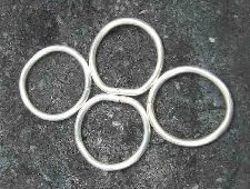 Fine silver component example that shows the links sitting flushed together.