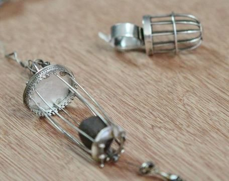 wire cage pendant and ring by Susan Lenart Kazmer