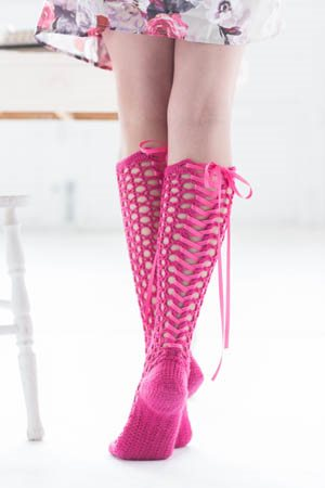 Corset Socks Back