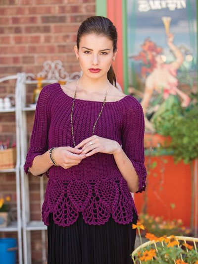 Colorful Crochet Lace: Pineapple Motif Sweater