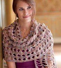 Tunisian Crochet Lace Shawl