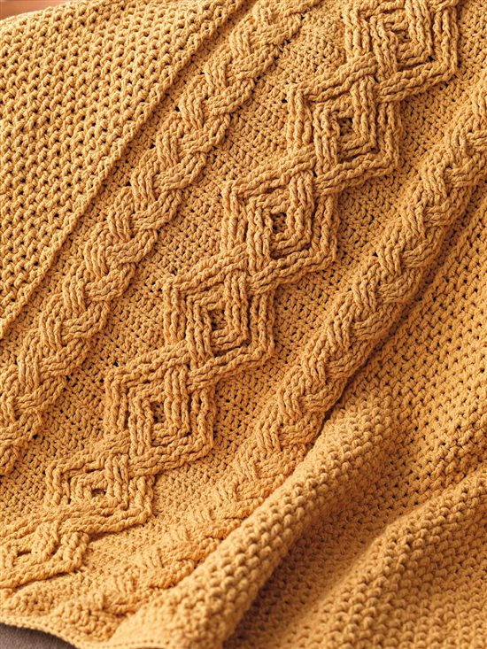 Unexpected Afghans: Cabled Crochet Afghan