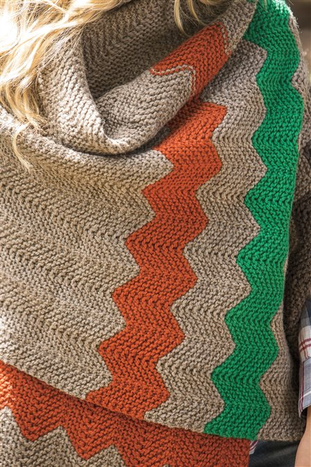 hudson wrap knitted shawl pattern