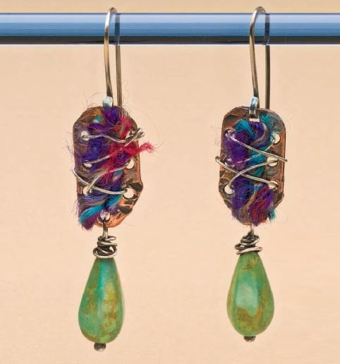 The Interweaving earrings by Mary Jane Dodd from Easy Metal Jewelry