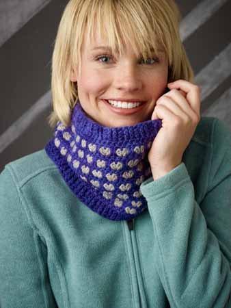 Crochet Post Stitch Cowl