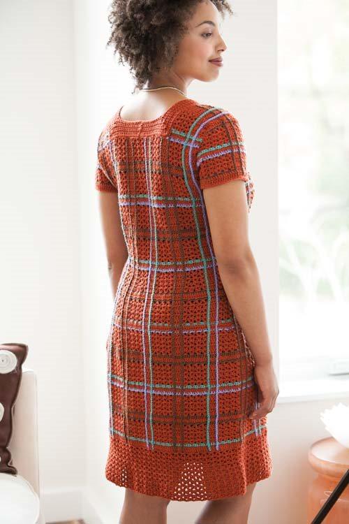 Crochet Plaid Dress