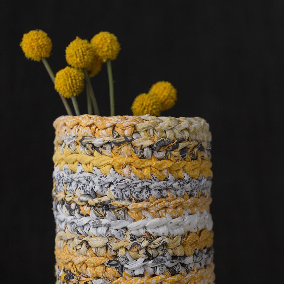 Rage Yarn Vase Cozy | Credit: Harper Point Photography