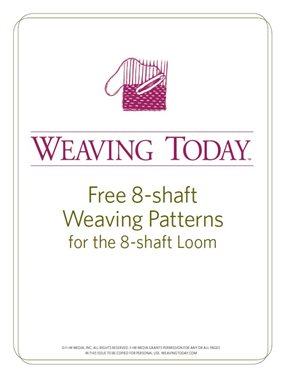 Master the eight-shaft loom with these free weaving projects from Interweave!